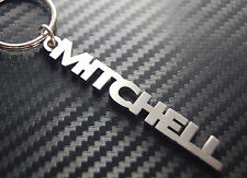 MITCHELL Personalised Name Keyring Keychain Key Fob Bespoke Stainless Steel Gift
