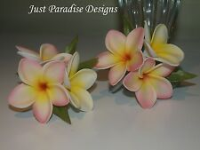 Corsage Pin - Artificial Flower - Frangipani Light Pink with white - Set of 2