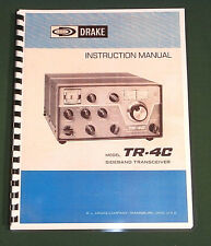 "Drake TR-4C Instruction Manual: 11"" x 17"" Foldout Schematic & Protective Covers!"
