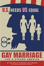 Frank Kozik Gay Marriage Poster U.S. Needs Us Equal Propaganda Print
