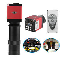 8~130X Digital Industrial Microscope Camera HDMI VGA Video Zoom C-Mount Len 14MP