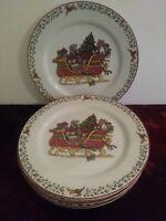 Set Of 4 International China Susan Winget Over The Housetops Salad Plates 1997
