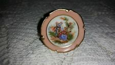 """Limoges: Miniature, Handpainted 2"""" DIAMETER PLATE WITH STAND 150801011"""