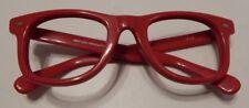 Vintage May USA Navigator Red Wayfarer Style Eyeglass Frame New Old Stock