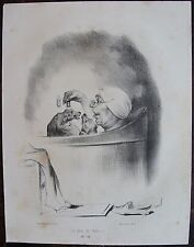 HONORE DAUMIER (1808-1879). Le bain a domicile. N°16 . Lithographie originale