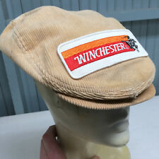 Winchester Rifle Ammunition K-Product VTG Corduroy Newsboy Stretch One Size Cap