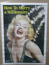 Vintage Marilyn Monroe How to Marry a Millionaire poster Hot Girl 1983 Inv#G497