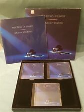 The Music of Disney:A Legacy in Song 1992 Boxed Set 3 CD & Book-Good Condition
