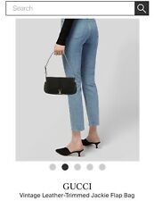 Gucci Vintage Leather-Trimmed Jackie Flap Bag Excellent Condition! Smoke/pet Fre