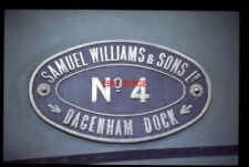 PHOTO  NUMBERPLATE SAMUEL WILLIAMS & SONS LOCO NO 4 DAGENHAM DOCKS