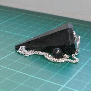 Auction Nuummite Point Dowsing Pendulum Gemstone Crystal Dowser