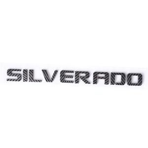 Carbon Fiber Silverado Letter Tailgate Nameplate Emblem for 1500 3500 2500HD
