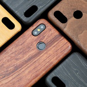 For Xiaomi 10/9T /f2/Mix 3 walnut Wood Bamboo Rosewood MAHOGANY Wooden Back Case