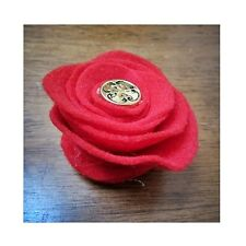 Red Swirl Collar Flower for Dogs -New- FREE SHIPPING