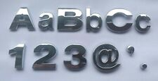 Upper and Lower Case Chrome 3D Self-Adhesive Letters / Numbers Sticker Home Car.