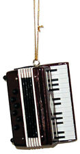 Accordion Squeezebox replica handmade collectible miniature hanging ornament 2""