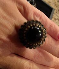 Premier Designs Jewelry IMPERIAL ring size 6 RV $41 antiqued matte brass plated