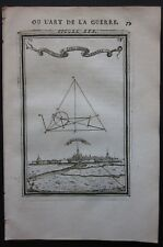 1684 MOYENVIC vue gravure Alain Manesson Mallet fortifications Saulnois Moselle