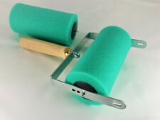 Farbabroller, Abrollapparat für Malerrollen mit Ersatz Schwammwalze