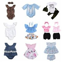 Baby Girls Dress Boys Outfits Clothes T-shirt Tops+Pants/Shorts/Skirt Set