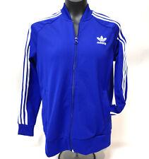 Adidas Youth Size Large Track Jacket Blue Trefoil Embroidered Logo UK 13-14Y