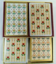 Congress double boxed Playing Cards  Flowers  NO JOKERS Designer Series