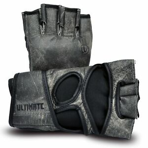 Antique - Gray Series MMA Gloves - Genuine Leather