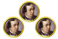 Benjamin Disraeli Marqueurs de Balles de Golf
