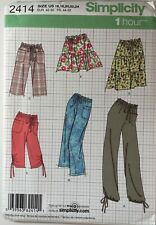 Simplicity 2414 Skirt Trousers Ladies Quick Easy Elasticated New Uncut Pattern