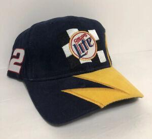 Vintage NASCAR Rusty Wallace #2 Miller Lite Racing Snapback Hat Sharktooth New