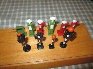 10 x Dinky,Timpo etc- Petrol Pumps ,Dispenser,Traffic lights etc-Restored