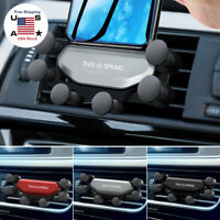 360°Gravity Auto Car Air Vent Mount Cradle Holder Stand For iPhone Cell Phone US