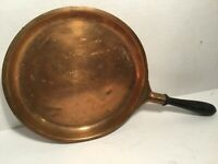 "Collectible Advertising Vintage United Airlines 10"" Copper Pan, Wooden Handle"
