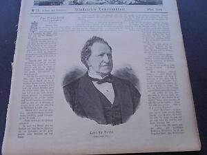 1884 Zeitungsdruck 392 / Carl von la Roche Berlin Wien Schauspieler
