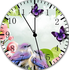 """Butterfly Birds wall Clock 10"""" will be nice Gift and Room wall Decor E16"""