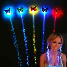 2* Lady LED Hair Flashing Colorful Clip Braid Hairpin Glow Girls Party Decor Hot