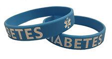 Adult Blue Diabetes Silicone Bracelet