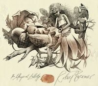 """Oak Tree, Acorn Child""  Ex libris Free Graphic by Robert Baramov, Bulgaria"