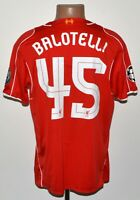 LIVERPOOL 2014/2015 HOME CHAMPIONS LEAGUE FOOTBALL SHIRT WARRIOR BALOTELLI #45