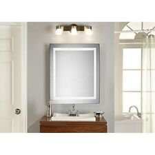 "Led Electric Mirror Square W28"" H28"" Dimmable 5000K"