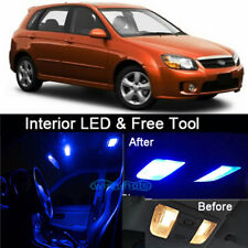 6Pcs Blue LED Lights Interior Package kit for 2005-2013 KIA Spectra5+Free Tool
