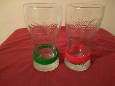 2 London 2012 Olympics Coca Cola Glasses + Wristbands McDonalds Coke Pair VGC UK
