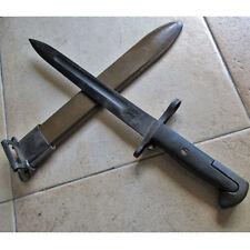 """Original US M1 Garand Bayonet & Scabbard 1942 Dated WWII WW2 14"""" Vtg."""