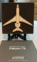 """FALCON 7X"" THE 200th Dessault/Falcon Arthus -Bertrand Airplane Paperweight"
