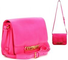 Marc by Marc Jacobs Katie neon Pink leather shoulder crossbody bag