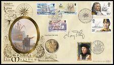 Yachtsman CHAY BLYTH Signed 1997 John Cabot Benham Replica Henry VII Coin Cover