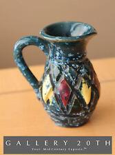 ITALIAN ATOMIC MID CENTURY MODERN ABSTRACT POTTERY! Vase Bitossi Era 1950s Blue