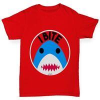 Twisted Envy I Bite Shark Boy's Funny T-Shirt