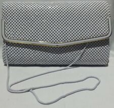 GLOMESH STYLE - **NEW** - White - Hand bag, Evening Bag with Strap, Clutch Bag