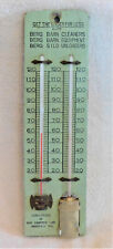VINTAGE THERMOMETER TEMPERATURE & HUMIDITY ADVERTISING BERG FARM EQUIPMENT WORKS